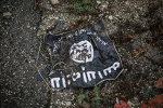 The flag of the radical Islamist organization Islamic State of Iraq.
