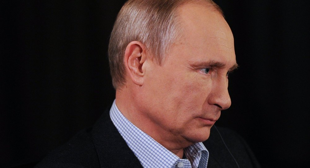 Vladimir Putin during an interview to ARD TV channel