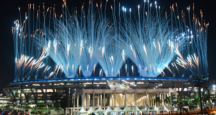 The opening ceremony at the XXIX Summer Olympic Games in Rio de Janeiro