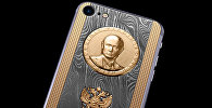 Модель iPhone 7 Supremo Putin Damascus Gold от бренда Caviar