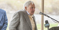 David Rockefeller speaks at a ceremony in Mount Desert, Maine. (File)